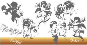 Vintage Angels Free Vector