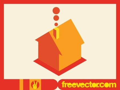House Icon in 3D Free Vector