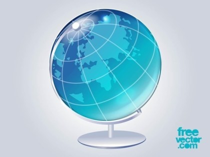 3D Globe Free Vector