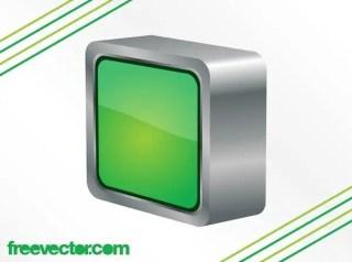 3D Square Button Free Vector