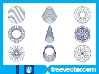 Abstract Wireframe Designs Free Vector