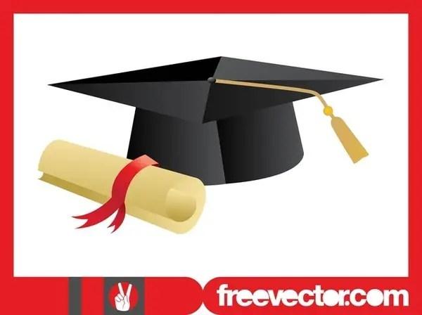 Academic Cap and Diploma Free Vector
