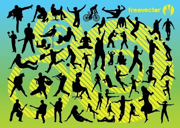 Active People Free Vector
