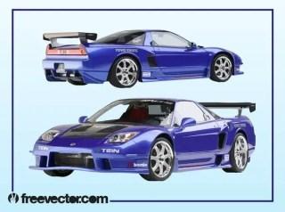 Acura Race Car Free Vector