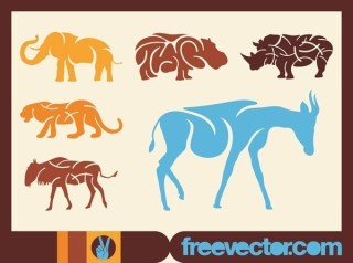 African Animals s Free Vector