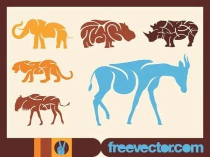 African Animals s Free Vector