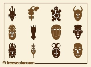 African Designs Set Free Vector