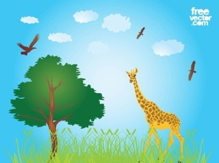 African Nature Free Vector