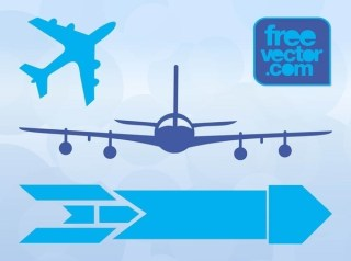 Aircraft Icons Free Vector