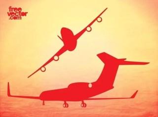 Airplane Flights Free Vector