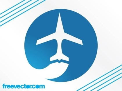 Airplane Logo Free Vector