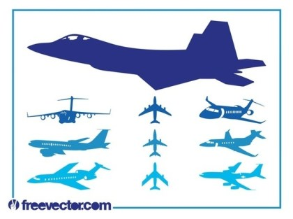 Airplanes Set Free Vector