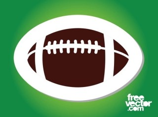 American Football Sticker Free Vector