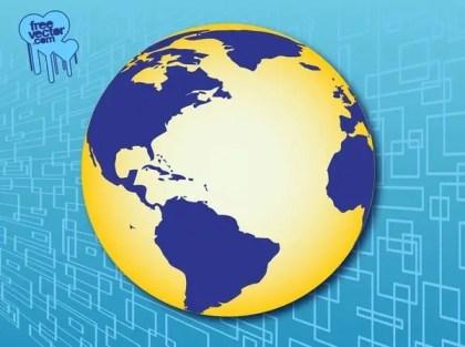Americas Globe Free Vector