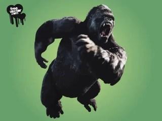 Angry King Kong Free Vector