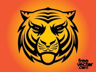 Angry Tiger Tattoo Free Vector
