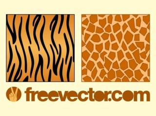 Animal Fur Patterns Free Vector