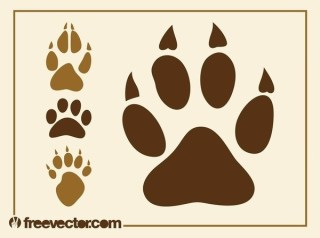 Animal Paw Prints Free Vector