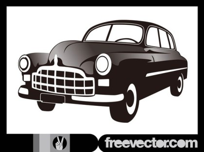 Antique Car Free Vector