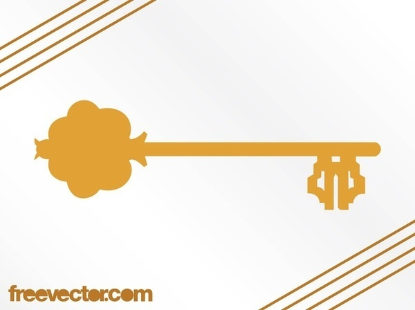 Antique Key Silhouette Free Vector