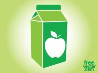 Apple Juice Box Free Vector