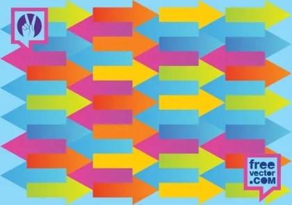 Arrows Pattern Free Vector