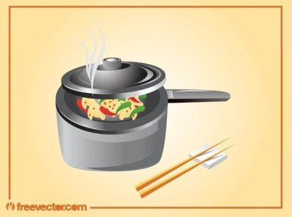 Asian Cooking Free Vector