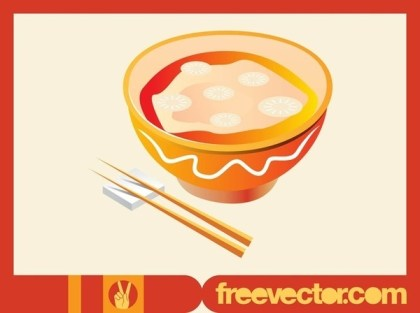 Asian Soup Free Vector