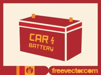 Automotive Battery Free Vector