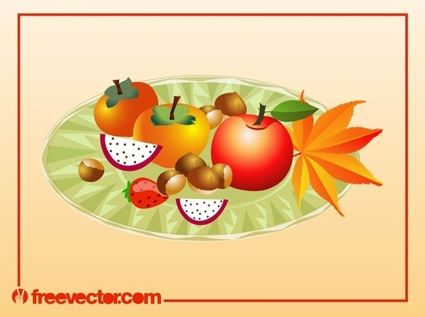 Autumn Food Free Vector