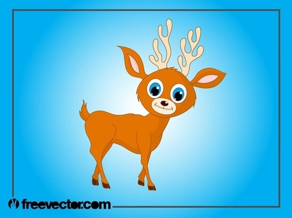 Baby Deer Cartoon Free Vector