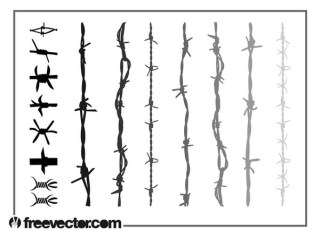 Barbed Wire s Free Vector