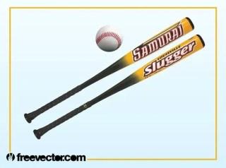 Baseball Bats Free Vector