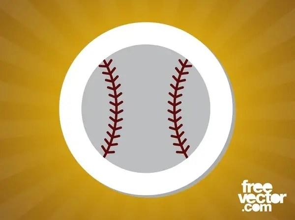 Baseball Sticker Free Vector