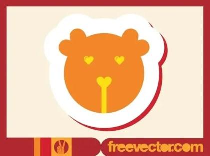 Bear Badge Free Vector