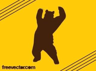 Bear Silhouette Free Vector