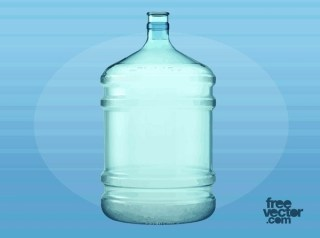 Big Plastic Water Bottle Free Vector