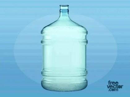Big Plastic Water Bottle Free Vector