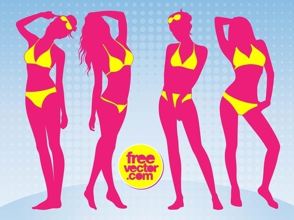 Bikini Girls Free Vector