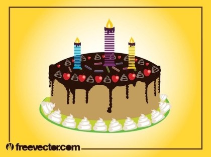 Birthday Cake Free Vector