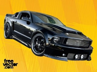 Black GT Car Free Vector