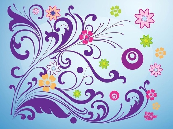 Blooming Spring Card Free Vector