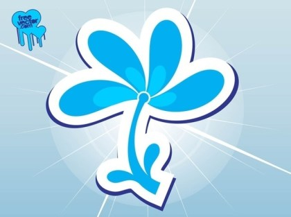 Blue Flower Icon Free Vector