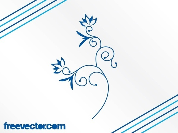 Blue Flower Image Free Vector