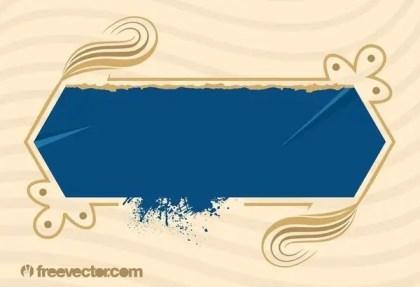 Blue Grunge Banner Free Vector