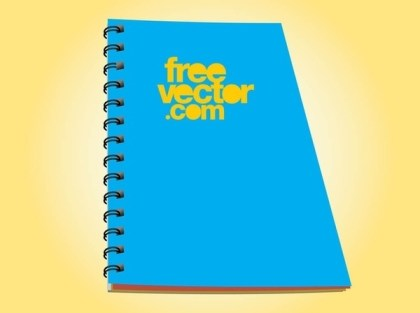 Blue Notebook Free Vector