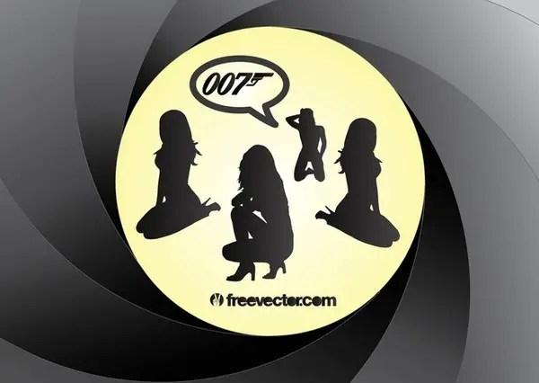 Bond Girls Free Vector