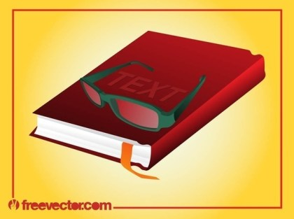 Book and Glasses Free Vector