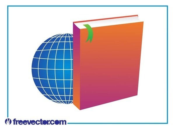 Book and World Layout Free Vector
