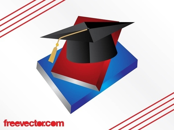 Books and Academic Hat Free Vector
